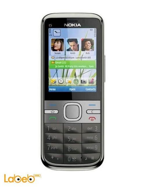 Nokia c5 mobile 50MB 2.2inch 3MP Black color