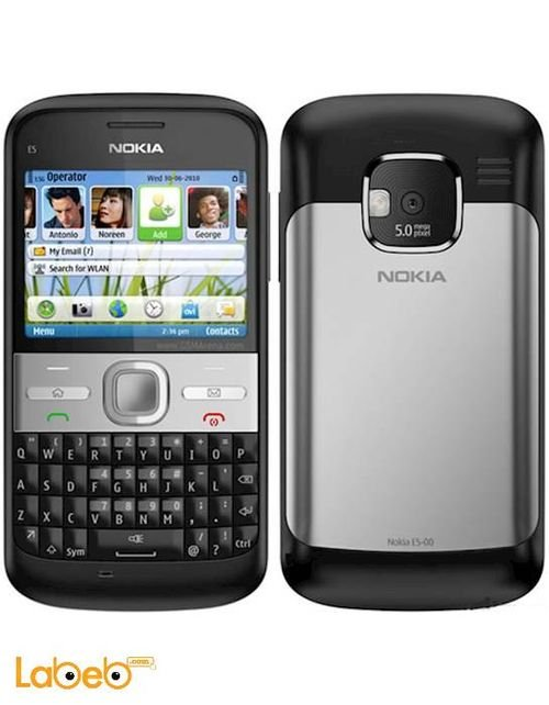 Nokia E5 mobile 250MB 2.36 inch Black color