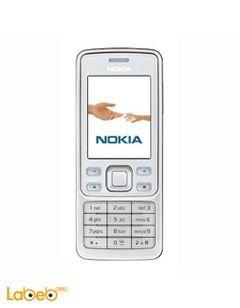 موبايل نوكيا 6300 - ذاكرة 7.8 ميجابايت - 2 انش - لون ابيض