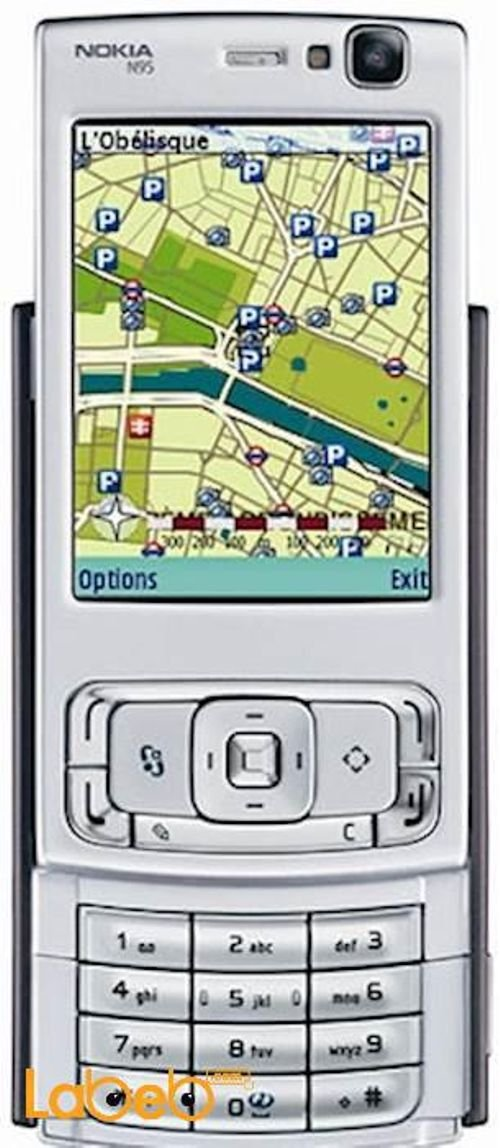 Nokia N95 mobile 160MB 2.6 inch 5MP Silver color