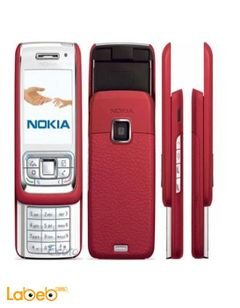 Nokia E65 mobile - 50MB - 2.2 inch - 2MP - Red color