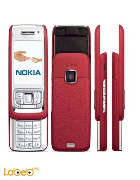 موبايل نوكيا E65 ذاكرة 50 ميجابايت 2 2 انش لون أحمر