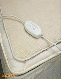 غطاء كهربائي مفرد للتدفئة مناسب لجميع الأعمار لون بيج