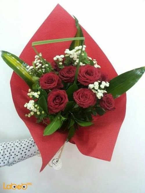 Flower bouquet red rose matrokalya Accessories Dutch Green red color