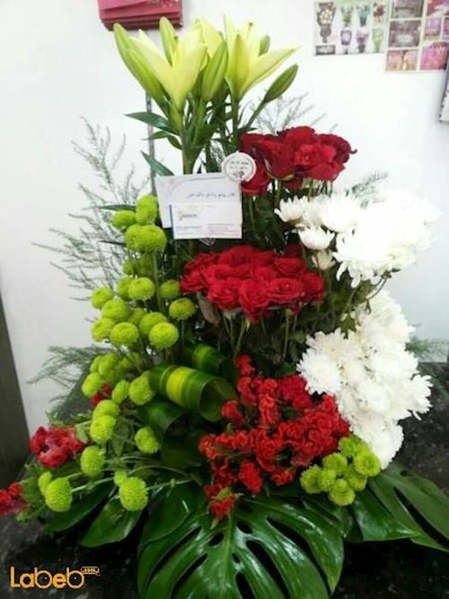 Flower bouquet Lily red rose pink craze Dutch Green