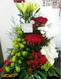 Flower bouquet - Lily - red rose - craze - Dutch Green