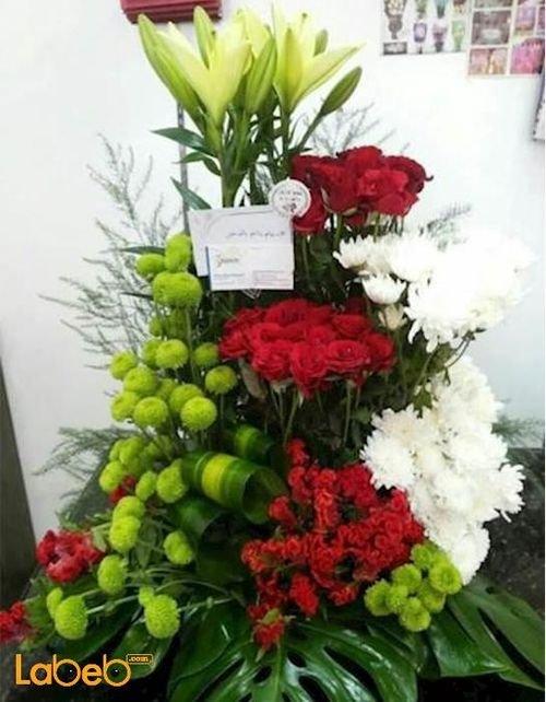 بوكية زهور من ليليوم ورد جوري احمر زهرة كريز خضارات هولندية