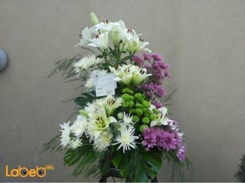Flowers bouquet laly Craze Monstera deliciosa purple white