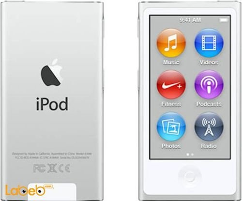Apple iPod nano 16GB 2.5inch Silver color A1446 model