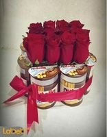 Flowers Coordinated designed red rose flower nutella chocolate