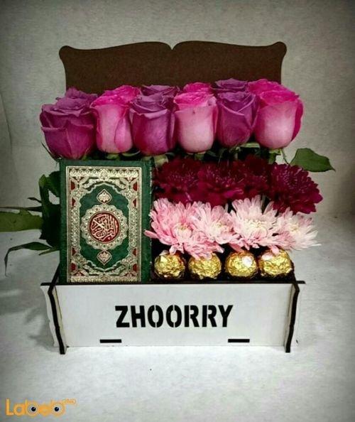 Flowers box pink rose Craze Ferrero Rocher Mushaf