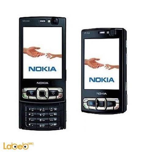 موبايل نوكيا N95 ذاكرة 160 ميجابايت 2.6 انش أسود