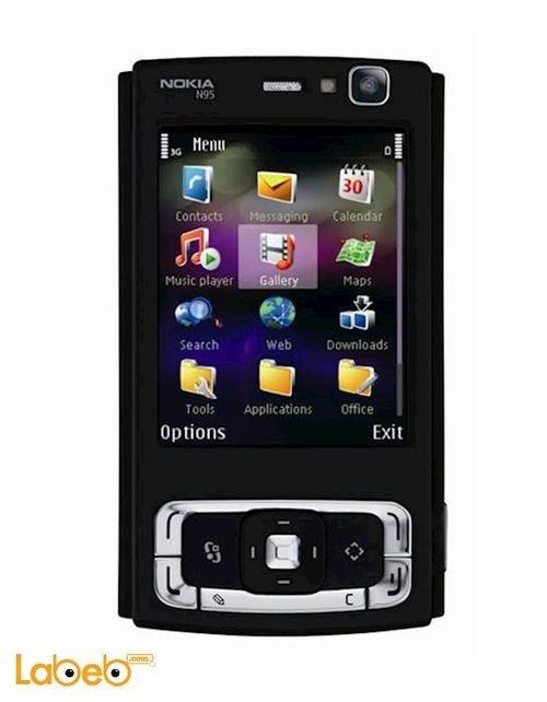 موبايل نوكيا N95 ذاكرة 160 ميجابايت 2.6 انش لون أسود