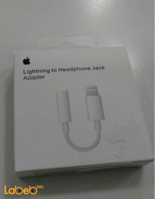 Apple Lightning to 3.5mm Headphone Jack Adapter - iphones - white