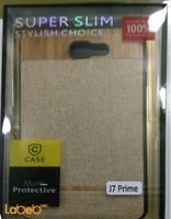 Case mobile back cover for J7 prime smartphone Gold color