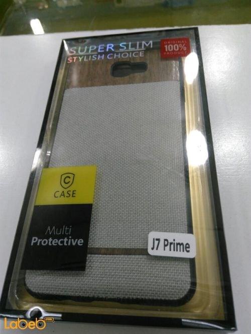 غطاء خلفي case لموبايل سامسونج j7 prime لون رمادي