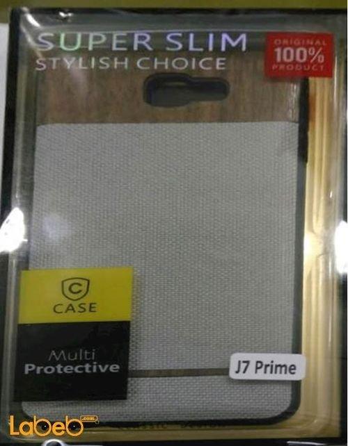 غطاء خلفي case مناسب لموبايل سامسونج j7 prime لون رمادي