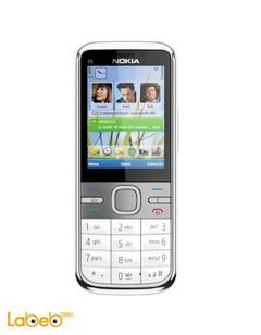 Nokia c5 mobile - 50MB - 2.2inch - 3MP - Silver color