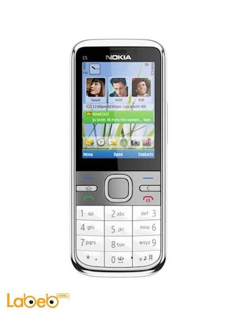 Nokia c5 mobile Silver color