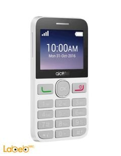 AlCatel 2008D mobile - 16MB - 2.4 inch - 2MP - White color
