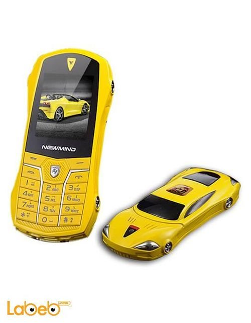new mind mobile Dual Sim 1.77 inch yellow color F1 CAR