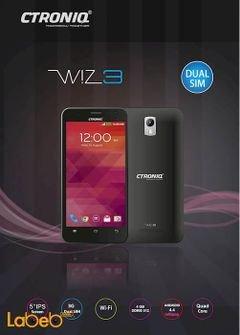 موبايل Ctroniq Wiz 3 - ذاكرة 8 جيجابايت - يدعم شريحتين - أسود