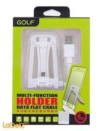 شاحن مع قاعده GOlf طول 1.2 متر منفذ USB لون أبيض