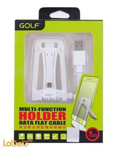 Golf Multi-Function Holder Data Flat Cable - 1.2m - White color