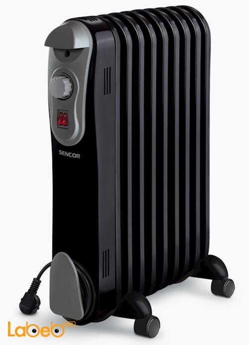 مدفئة زيت كهربائية SOH 3109BK Sencor قدرة 2000 واط أسود