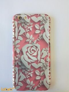 mobile back cover - for iphone 6s - white and pink flowers