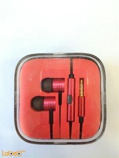 سماعة اذن مناسبة لجميع الهواتف - لون احمر - EN50332-2