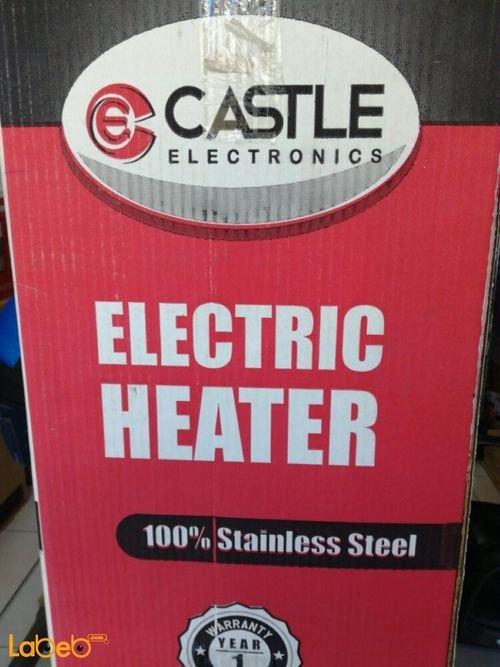 مدفأة كهربائية كاستل 3 شعلات حرارية ستانلس ستيل