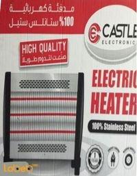 مدفئة كهربائية كاستل 3 شعلات حرارية 220 فولت ستانلس ستيل