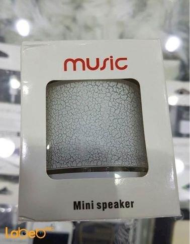 مكبر صوت حجم صغير music - سعة 520mAh - لون فضي - بلوتوث 2.1