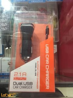 LDNIO USB Car Charger - 2 USB - black color - DL-219 model
