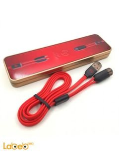 WK charging cable - for iphones - Sync & Data cable - red color