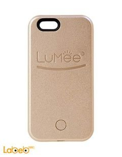 Lumee lighting back cover mobile - for iPhone 7 - brown color