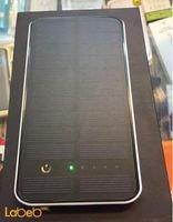 شاحن محمول يعمل بالطاقة الشمسية 10000mAh أسود منفذين USB
