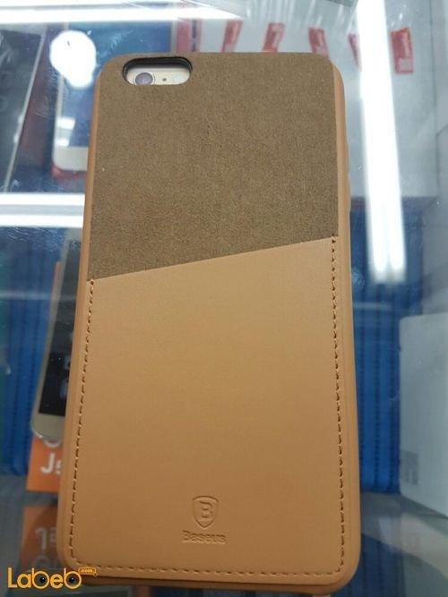 غطاء خلفي Baseus مناسب لموبايل ايفون 6 بلس لون بني