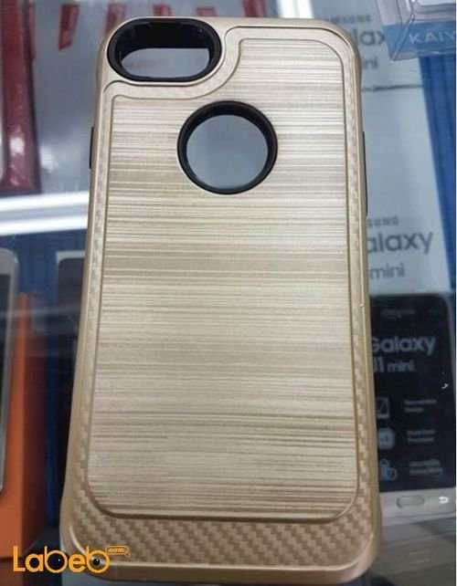 mobile back cover for iphone 7 gold color with lines