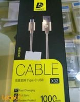 Pidan cable type C USB 1 m Gold color X32 model