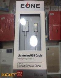 كابل لايتينج EONE لأجهزة الأيفون لون أبيض A5100