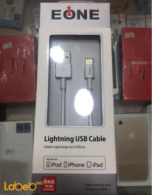 EONE Lightning USB cable Iphone devices White color A5100