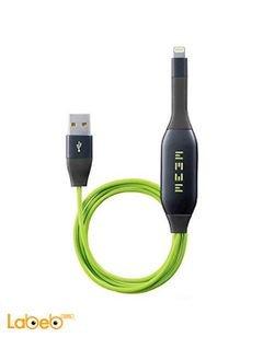 وصلة شحن meem - مناسب لأجهزة الايفون - لون أخضر واسود