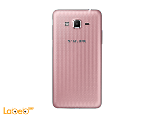 back Galaxy grand prime+ smartphone pink