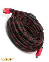 كابل HDMI طول 10 متر سرعة عالية لون أسود وأحمر