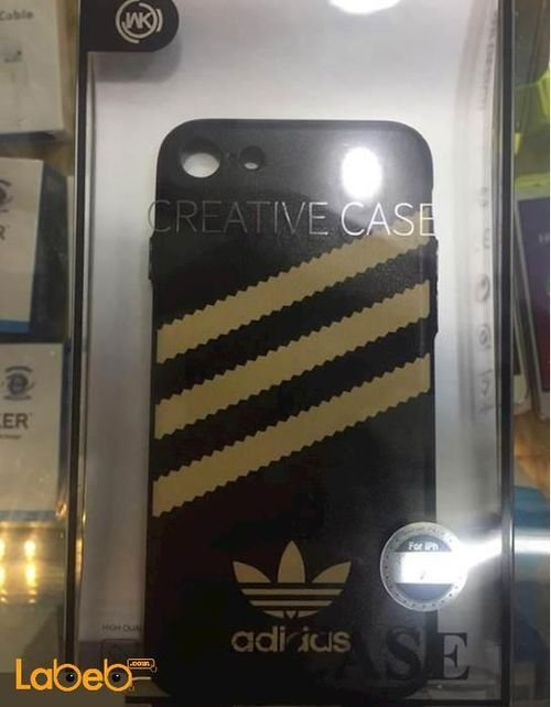 WK mobile back cover for iphone 7 black with Adidas logo