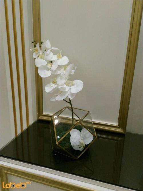 Artificial flowers Transparent vaze white flowers