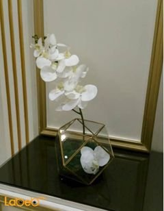 Artificial flowers vaze - Transparent vaze - white flowers