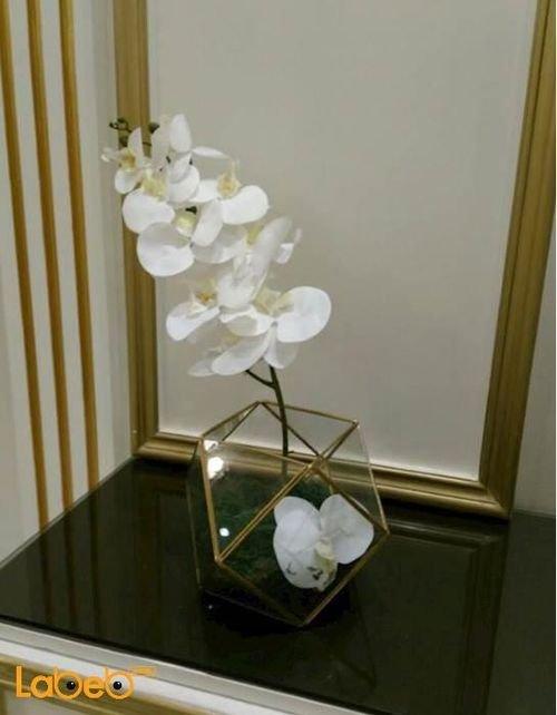 Artificial flowers vaze Transparent vaze white flowers